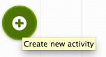 Botón para crear actividades y planificar un proyecto