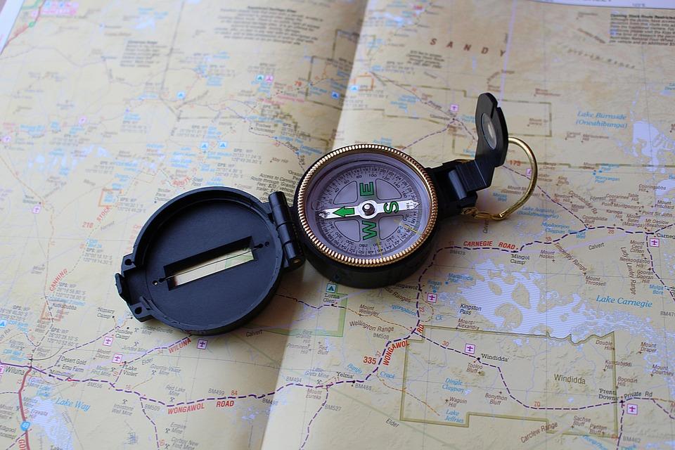 Compass que marca las eglas para planificar un proyecto