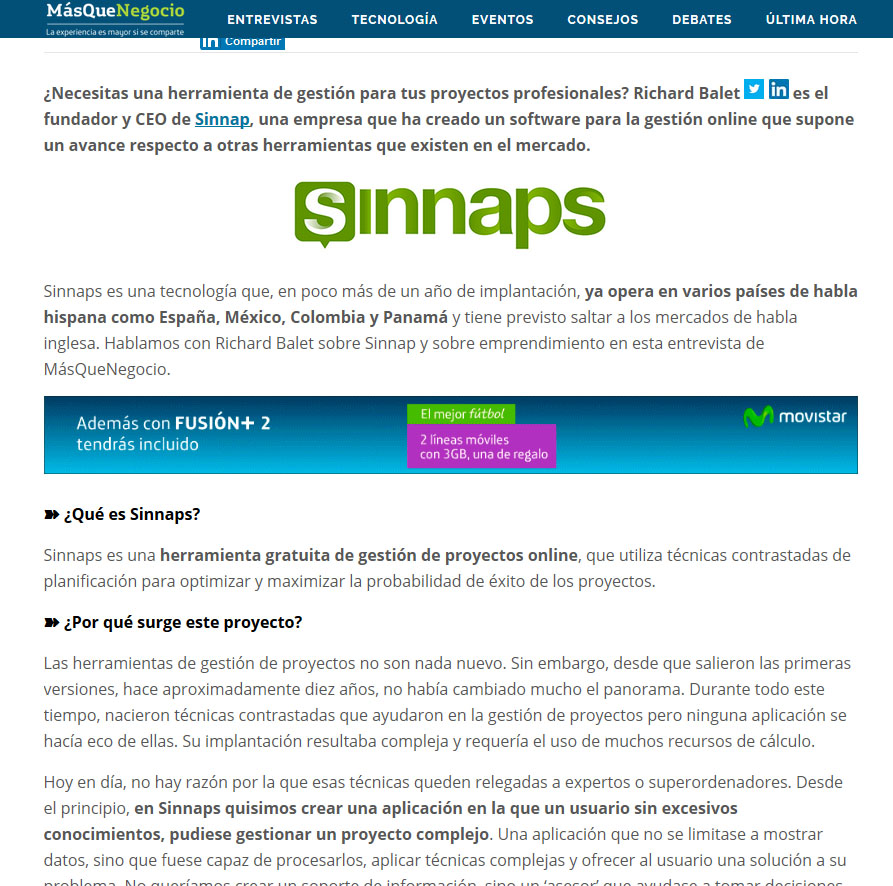 movistar sinnaps richard balet