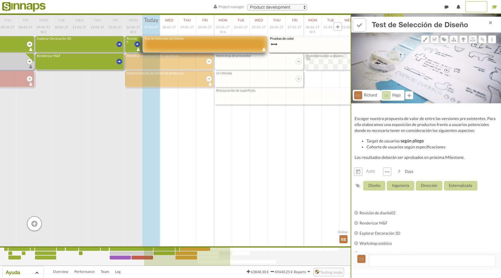 cronograma de actividades online