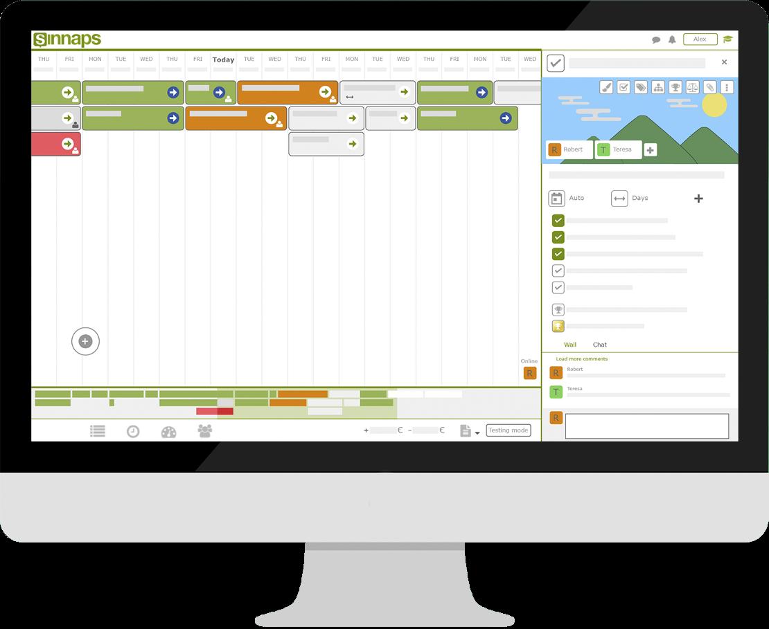 Using Sinnaps Web Scheduler to Facilitate Online Scheduling
